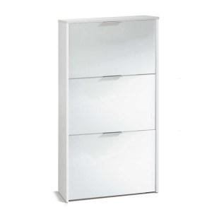 LC Meuble à chaussures 3 portes (Blanc)