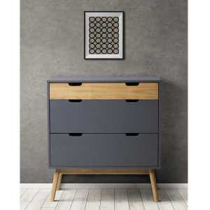 BAKU Commode 2T1Tpe (Gris)