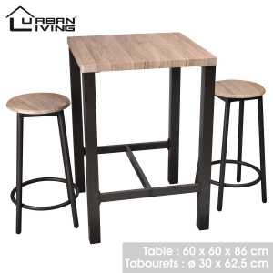 Dock table de bar avec 2 tabourets 151089
