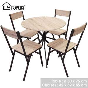 Dock table ronde et 4 chaises