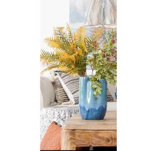 Vase en grès – Bleu corail