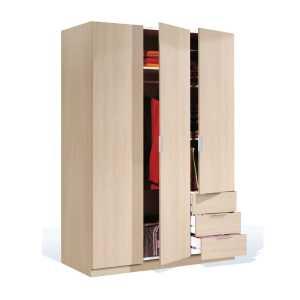 LCX Armoire de rangement avec 3 portes et 3 tiroirs – Chêne