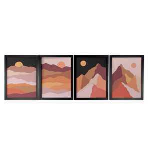 Montagne set de 4 tableaux en toile 45X2,2X60