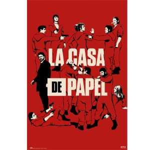 Poster LA CASA DE PAPEL tous les personnages
