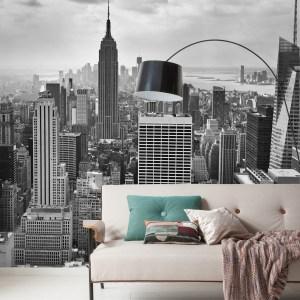 NYC Black and White papier peint   dansmamaison.ma maroc