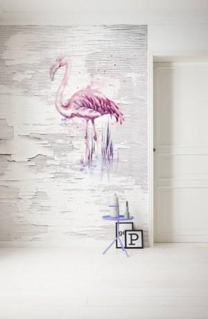 Pink flamingo papier peint | dansmamaison Maroc