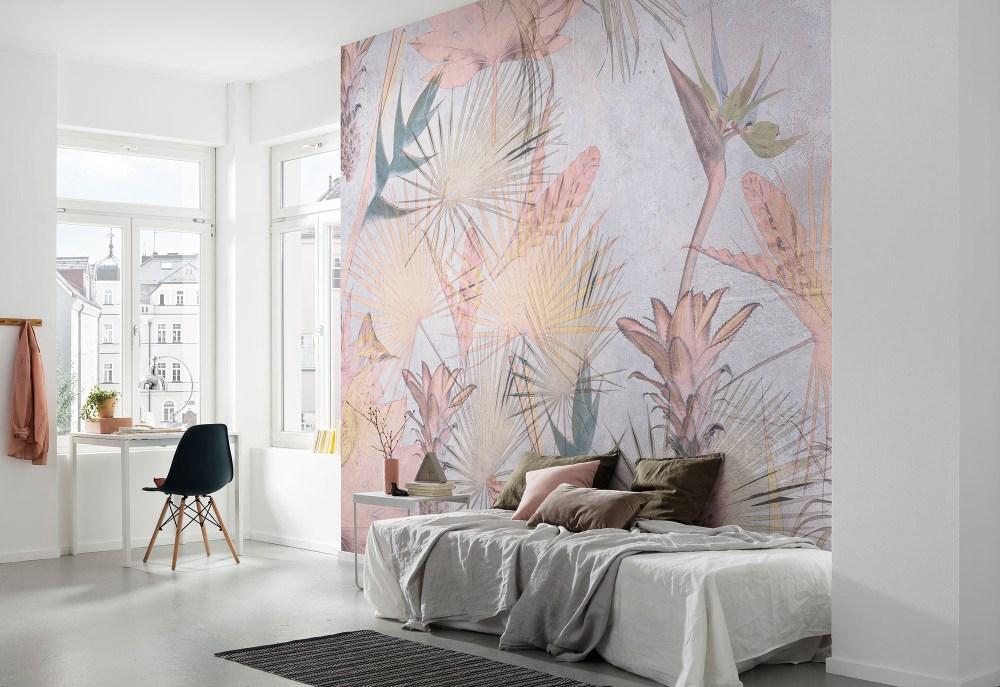 Tropical Concrete Papier peint | dansmamaison.ma - Maroc