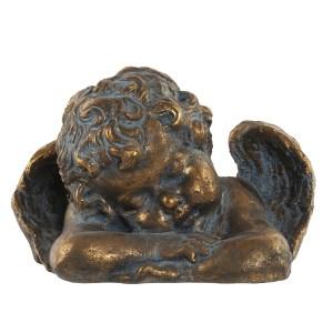 ANGE Vieilli figure doré en résine 28x18x19 cm