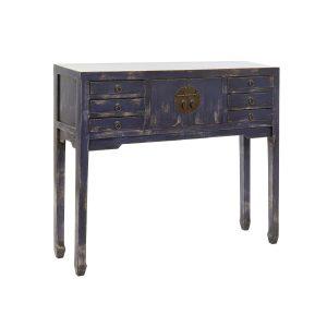 CONSOLE orme laqué bleu marine 100X26X87