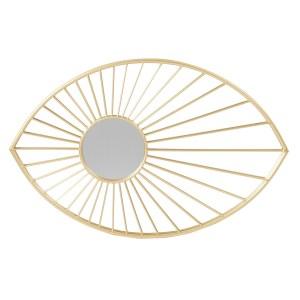 Soleil doré miroir en métal 57X3X88