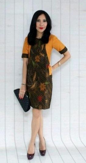 model baju batik kantor lengan panjang  model baju batik kantor wanita lengan pendek modern batik kerja