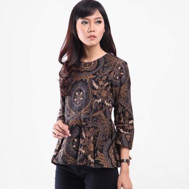 Baju Batik Wanita Lengan Panjang semi formal minimalis