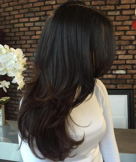 Model Rambut Ikal Panjang Multi Layered Mix