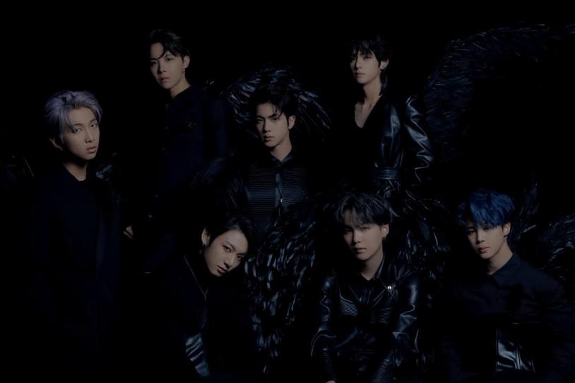 Gambar Lirik Lagu BTS Black Swan