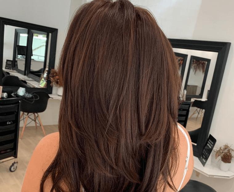 Auburn brown natural hair color