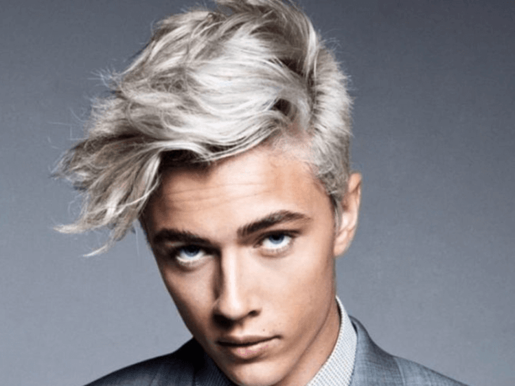 Foto 5 Platinum blonde hair color for men