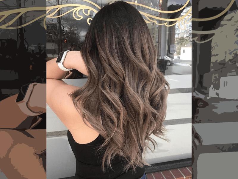 Warna rambut ombre coklat gelap