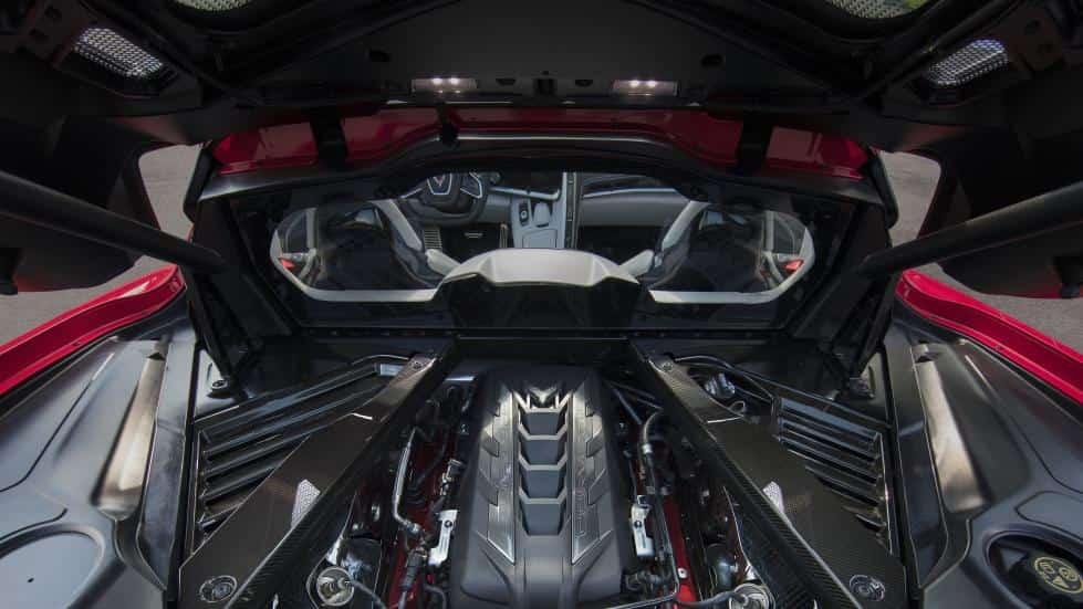 moteur coffre corvette
