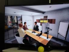 Avec Teemew, les participants échangent et travaillent dans un espace virtuel comme s'ils étaient assis autour de la même table mais avec de la modélisation 3D en direct, un whiteboard multimédia, etc...