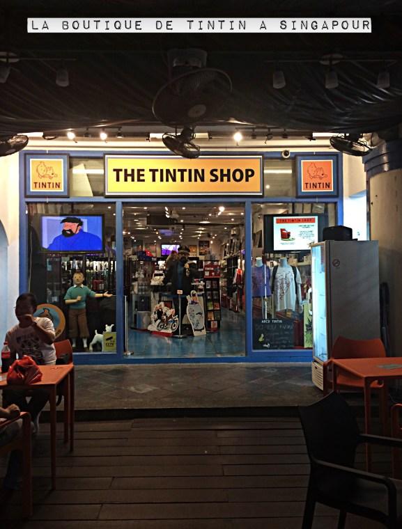 Chinatown Quartier Chinois Singapour Boutique Tintin Shop