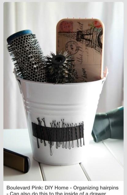 Comment ranger ses brosses à cheveux Pinterest