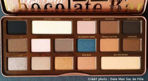 Teintes Too Faced Semi Sweet Chocolate Bar Palette
