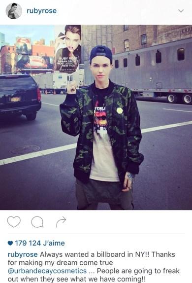 Ruby Rose égérie Urban Decay