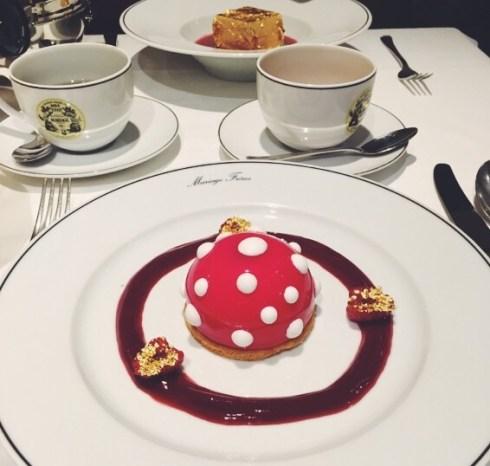 Cheesecake l'étoile mystérieuse Restaurant Mariage Frères Faubourg Saint Honoré Cuisine au thé
