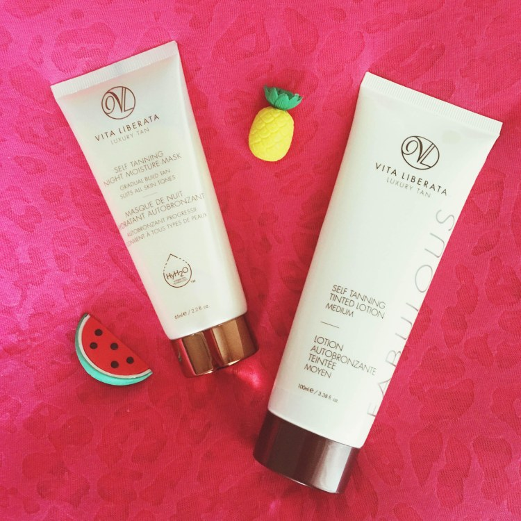 Vita Liberata Self Tanning Tinted Lotion et Night Moisture Mask Autobronzant masque de nuit avis blog