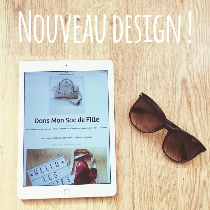 Nouveau design blog beauté Dans Mon Sac de Fille