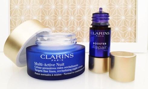 Clarins Booster repair avis blog ou trouver creme nuit multi active