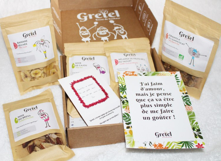 Gretel Box encas healthy aufeminin snacks avis blog