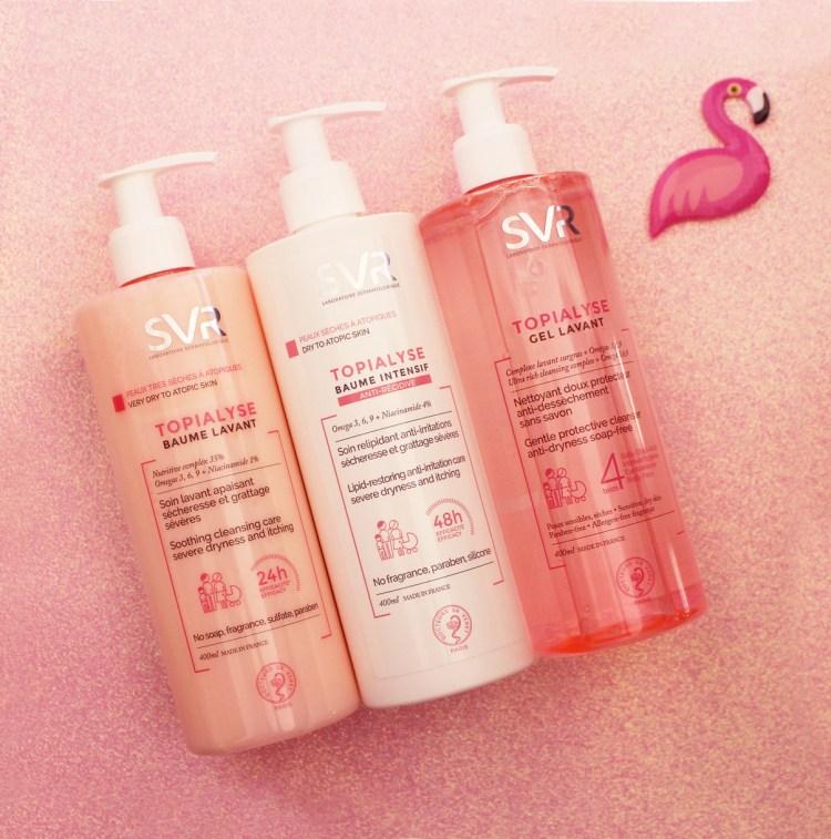 Gel Lavant, Baume Lavant et Baume Intensif SVR peau sèche sensible atopique avis blog