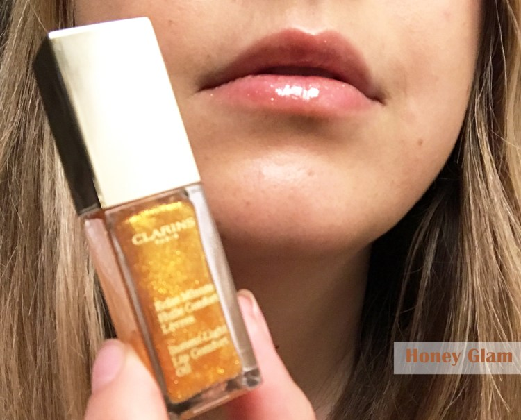 Clarins Eclat Minute Huile Confort Lèvres avis blog swatch Honey Glam