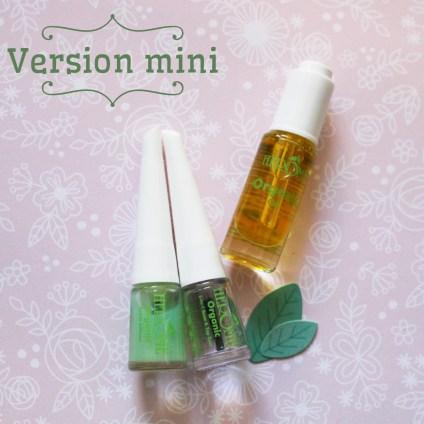 Hérôme Organic version mini travel size soin des ongles et des mains gamme bio