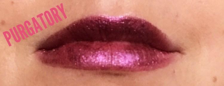 Urban Decay Vice Liquid Lipsticks avis blog swatch Purgatory