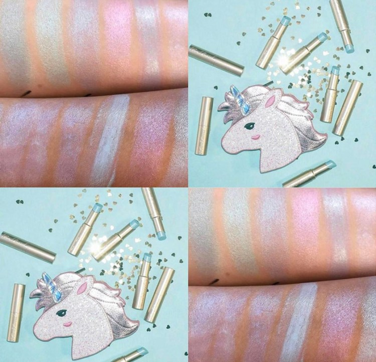 Too Faced holographic collection La Creme Unicorn tears avis blog swatch