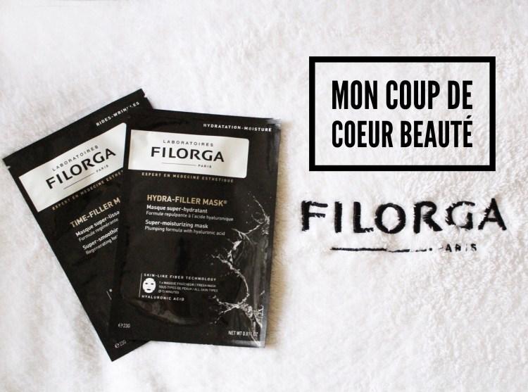 Filorga masques tissus Hydra-Filler Mask et Time-Filler Mask avis blog