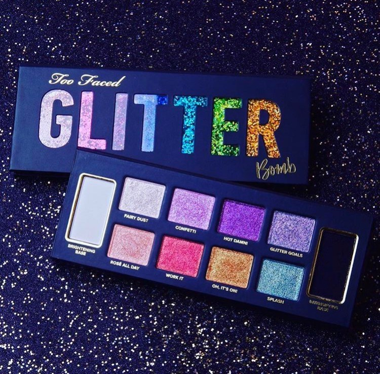 Too Faced Glitter Bomb palette avis blog