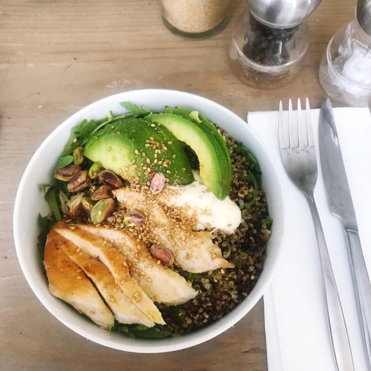 avis carte Season restaurant paris salade quinoa poulet blog