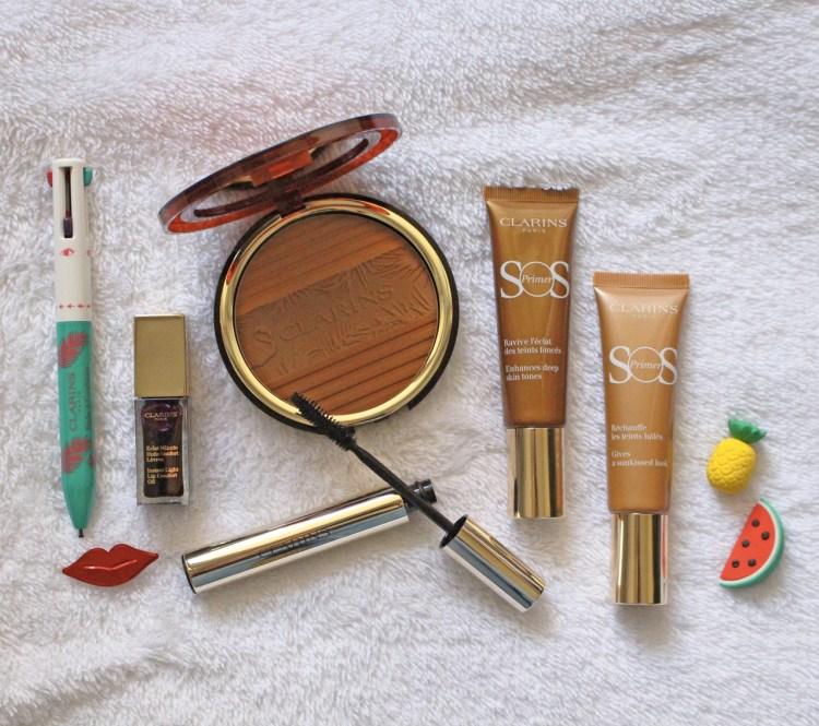 La jolie collection maquillage Hâle d'été 2018 de Clarins avis blog swatch photo