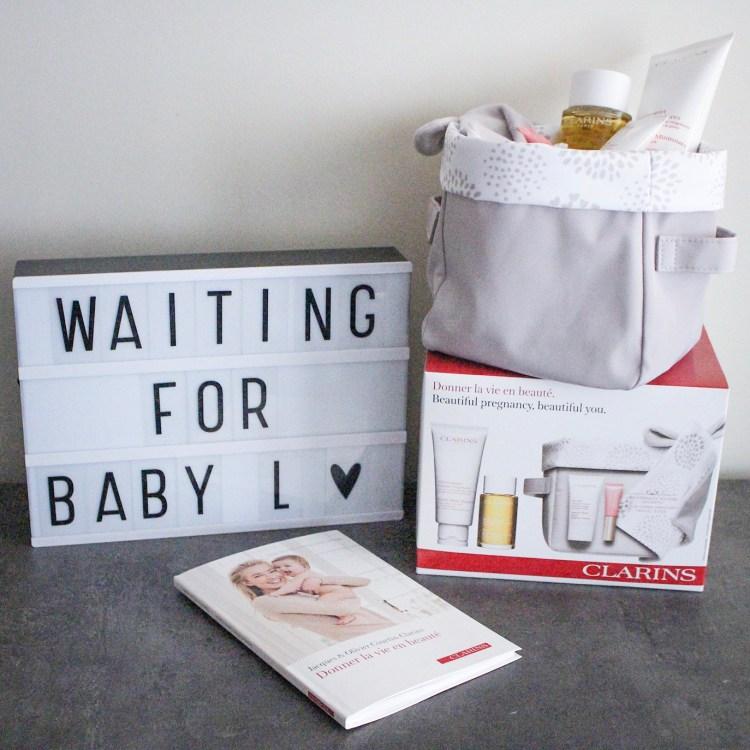 Mon magnifique coffret maternité Clarins pour femme enceinte