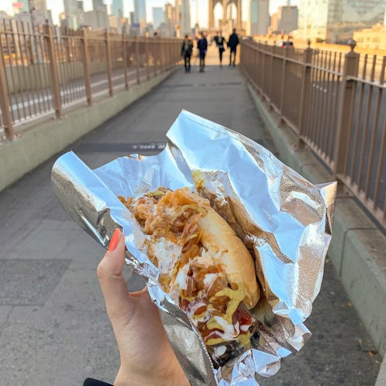 New York brooklyn bridge pont manhattan samy best hot dog bonnes adresses à faire absolument blog voyage