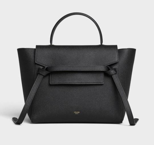 Wishlist cadeaux d'anniversaire pour mes 34 ans blog beauté Celine bag sac Belt Micro en veau grainé noir