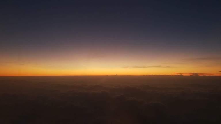 coucher de soleil avion Singapour
