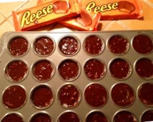 Brownies au chocolat Reeses - preparation