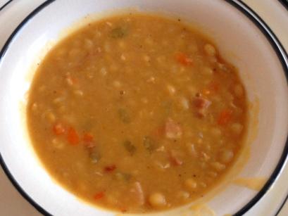La traditionnelle soupe aux pois, comme autrefois