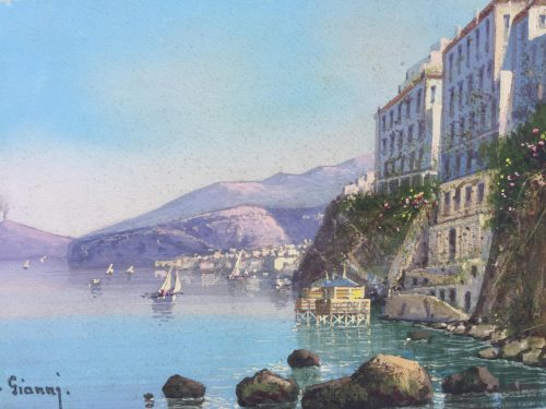 works on paper of sorrento Italy by Michelle gianni