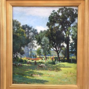 painting of a Bucolic Landscape by artist Ernest L. Major