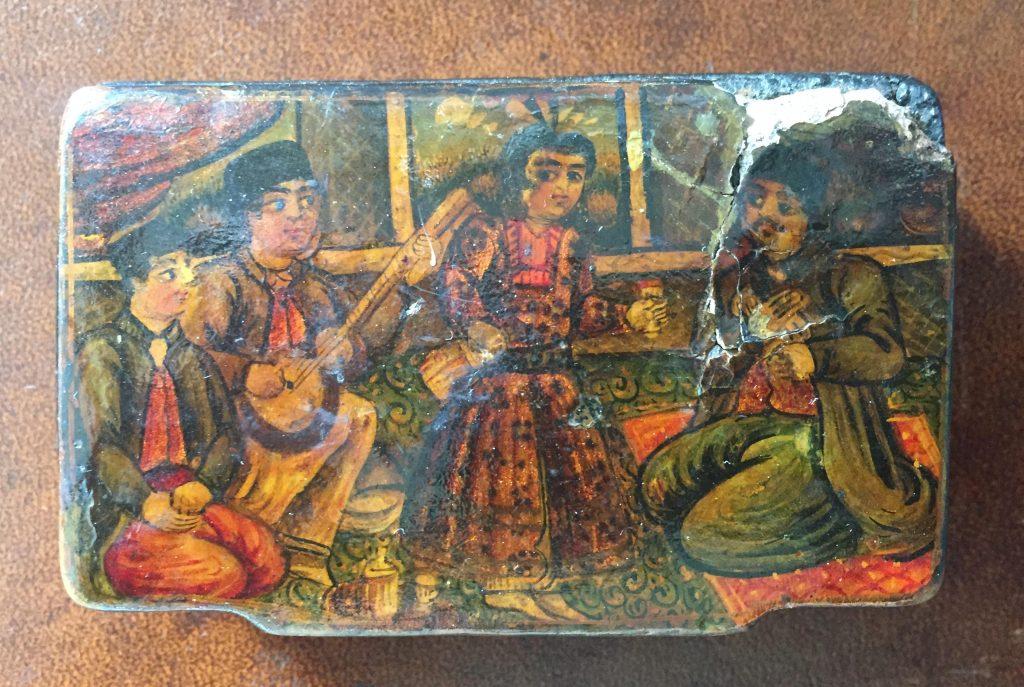 handpainted antique persian box